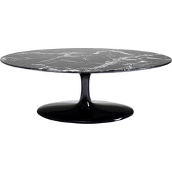 Coffee Table Solo Marble Black Oval 120x60