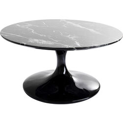 Coffee Table Solo Marble Black Ø90