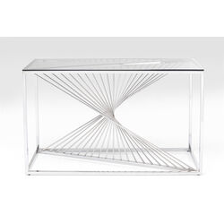 Console Laser silver/clear glass 120x40