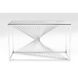 Console Laser argento - vetro chiaro 120x40