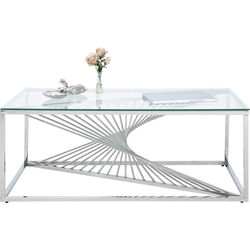 Coffee Table Laser Silver-Clear Glass 120x60