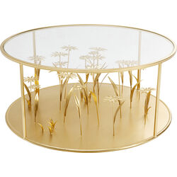 Coffee Table Flower Meadow Gold Ø80