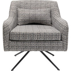 Swivel Armchair Iceland Black White