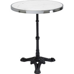 Bistro Table Kaffeehaus Rim Round White Ø 57