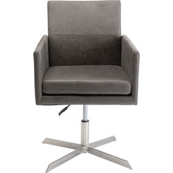 Swivel Arm Chair New York Grey