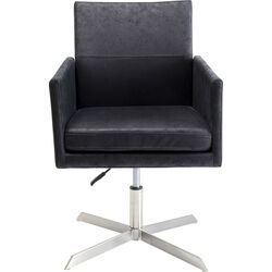 Swivel Arm Chair New York Black