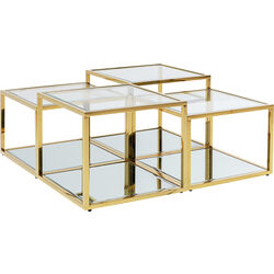 Coffee Table Orion Gold (4/Set)
