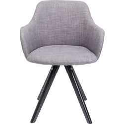 Swivel Armchair Lady Loco Grey