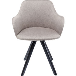 Swivel Armchair Lady Loco Taupe