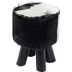 Stool Flint Stone Black Ø35