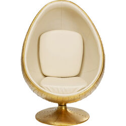 Swivel Armchair Eye Ball Brass
