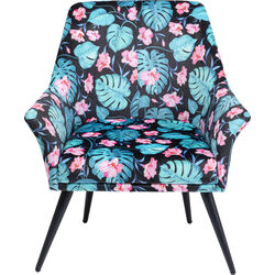 Armchair Flower Power Blue