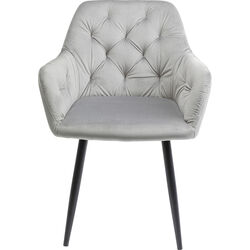 Chair with Armrest Kira Grey