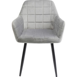 Chair with Armrest Kim Grey