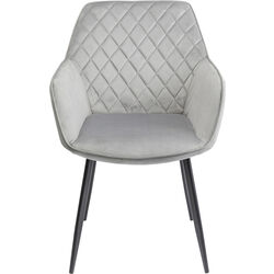 Chair with Armrest Kayla Grey