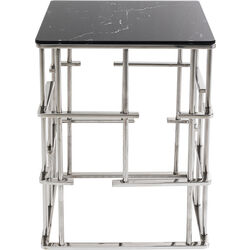 Side Table Rome Silver 40x40cm