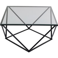 Coffee Table Cristallo Black 80x80cm