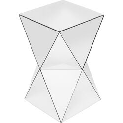 Side Table Luxury Triangle White 32x32cm