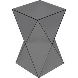 Side Table Luxury Triangle Grey 32x32cm