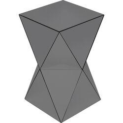 Side Table Luxury Triangle Grey 32x32cm