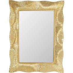 Wall Mirror Wavy Brass 94x124cm