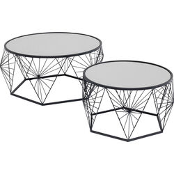Coffee Table Cobweb Black (2/Set)