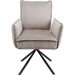 Chair with Armrest Chelsea Grey