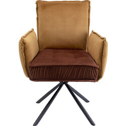 Chair with Armrest Chelsea Brown