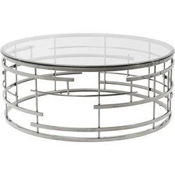 Table basse Jupiter argenté Ø100cm