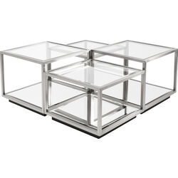 Coffee Table Luigi Silver (4/Set)