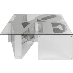 Coffee Table Love stainless steel 115x115cm