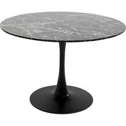 Table Schickeria Marbleprint Black Ø110cm