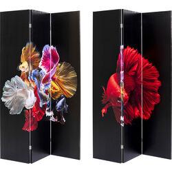 Room Divider Colorful Fish vs Fire Fish 120x180cm