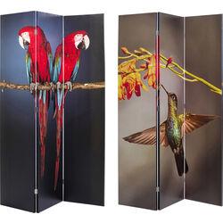 Room Divider Twin Parrot vs Cute Colibri 120x180