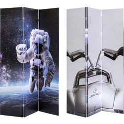Room Divider Triptychon Man vs Oldtimer 120x180cm