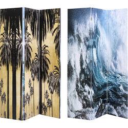 Room Divider Triptychon Wave vs Palms 120x180cm