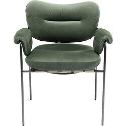 Chair with Armrest Vita Velvet Olive