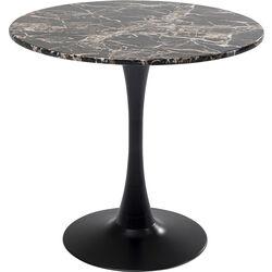 Table Schickeria Marbleprint Black Ø80cm