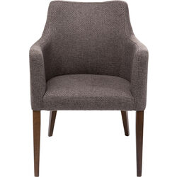 Chair with Armrest Mode Dolce Brown