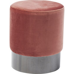 Stool James Mauve Black Ø35cm