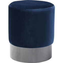 Stool James Blue Black  Ø35cm